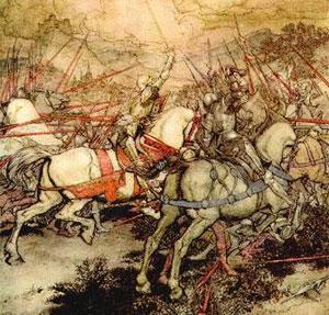 Ζωγραφική αναπαράσταση της Μάχης στο Όρος Μπάντον