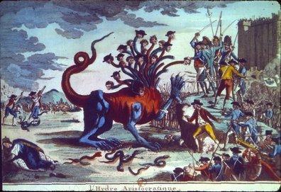 Η Αριστοκρατική Ύδρα (σκίτσο της Γαλλικής Επανάστασης)