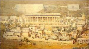 Ιερό του Απόλλωνος στους Δελφούς, καλλιτεχνική αναπαράσταση του A. Tournaire (1862-1958)