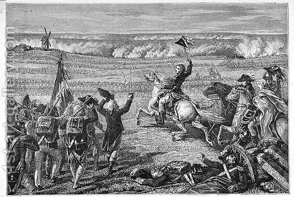 Ελαιογραφία της μάχης του Βαλμύ, 20 September 1792, πίνακας του H. de la Charlerie