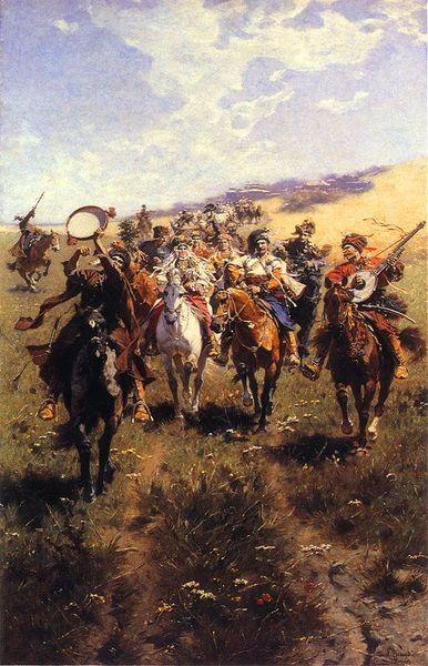 Γάμος των Κοζάκων, πίνακας του Józef Brandt