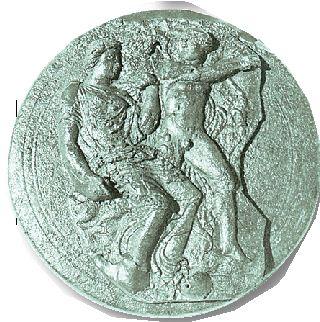 Σπασμένο κάτοπτρο του 5ου αι. π.Χ. (ή αρχές 4ου αι.π.Χ.) που έφερε στο φως η αρχαιολογική σκαπάνη στη Σαλαμίνα