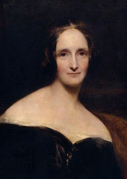 Πορτραίτο της Mary Shelley, έργο του Richard Rothwell
