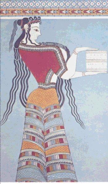 Τμήμα από τοιχογραφία στα νεώτερα μυκηναϊκά ανάκτορα της Τίρυνθας