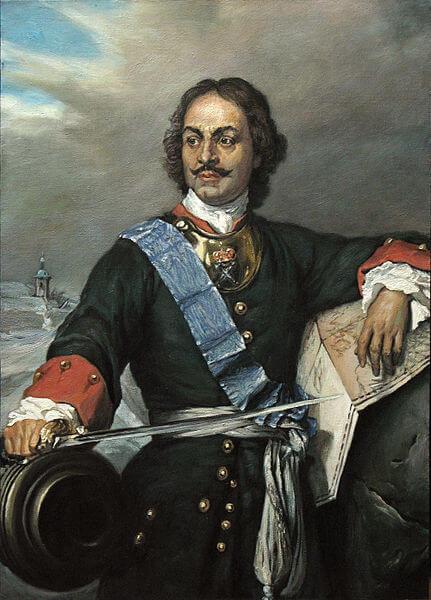 Πορτραίτο του τσάρου Πέτρου του Μεγάλου, του σπουδαιότερου ηγεμόνα της δυναστείας των Ρομανώφ, ελαιογραφία του ζωγράφου Paul Delaroche