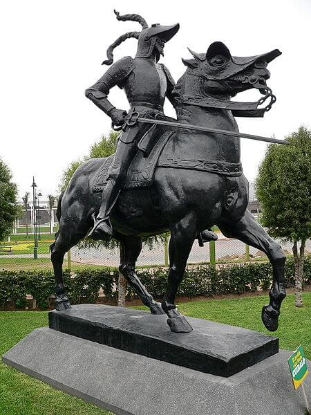 Άγαλμα του Πισάρου ως έφιππου στη Λίμα, Περού