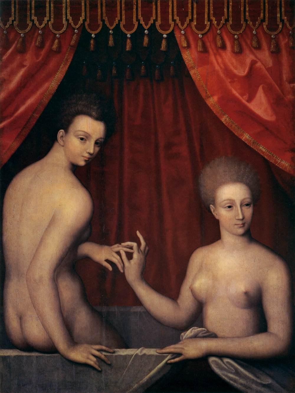 Αποτέλεσμα εικόνας για Η Gabrielle d'Estrées και μία από τις αδελφές της