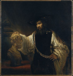Ο Αριστοτέλης με την προτομή του Ομήρου, Ρέμπραντ Χάρμενσοον βαν Ρέιν (15 Ιουλίου 1606 - 4 Οκτωβρίου 1669), Ολλανδός ζωγράφος και χαράκτης του 17ου αιώνα.