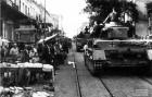 Γερμανικά τανκς στην οδό Αθηνάς τον Απρίλιο του 1941