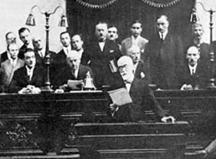 Ο Ελευθέριος Βενιζέλος (1864-1936) ομιλεί στη Βουλή, 1932