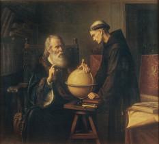 Ο Γαλιλαίος εξηγεί τις νέες αστρονομικές θεωρίες (1873), Félix Parra (1845-1919), Μεξικάνος ζωγράφος.