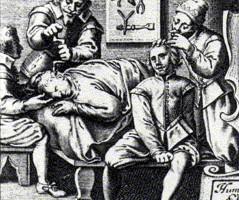 Εικονογράφηση που περιγράφει τις μεθόδους της ιπποκρατικής ιατρικής.