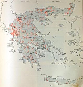 Χάρτης των Μαρτυρικών Χωριών.