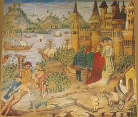Μια μικρογραφία που απεικονίζει την Ιατρική Σχολή του Σαλέρνο, αντίγραφο από Avicenna's Canons, χειρόγραφο 2197