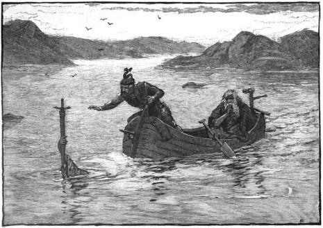Η Κυρά της Λίμνης Άβαλον προσφέρει το Εξκάλιμπερ στον Αρθούρο, Alfred Kappes 1880