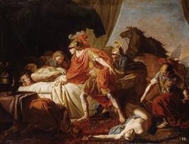 Ο Αχιλλέας εναποθέτει τη σορό του Έκτορα στο νεκρικό κρεβάτι του Πατρόκλου, Joseph Benoit Suvee,  1743-1807