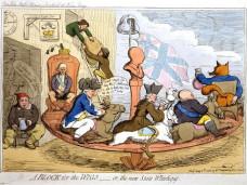A Block for the Wigs, James Gillray (13 Αύγουστος 1756 or 1757 – 1 Ιούνιος 1815), Βρετανός γελοιογράφος