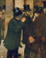 Στο χρηματιστήριο 1878 - 1879, Εντγκάρ Ντεγκά (19 Ιουλίου 1834-27 Σεπτεμβρίου 1917) Γάλλος ζωγράφος, χαράκτης και γλύπτης, από τους σημαντικότερους του 19ου αι.