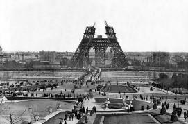 Φωτογραφικό στιγμιότυπο από την κατασκευή του Πύργου του Άιφελ, Φεβρουάριος 1888
