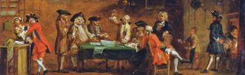 Θαμώνες του καφενείου που παίζουν χαρτιά, Αγγλίο 1730-50 Joseph Highmore (Άγγλος ζωγράφος, 1692-1780)