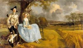 Mr and Mrs Andrews 1748-49, Τόμας Γκαίνσμπορω (Thomas Gainsborough, 1727-1788) Άγγλος προσωπογράφος και τοπιογράφος - Η γαιοκτητική αριστοκρατία στη Βρετανία