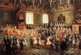 """Η αριστοκρατία της """"τηβέννου"""" στον πίνακα """"Το κοινοβούλιο του Παρισίου"""", 1723 - Nicolas Lancret (22 Ιανουαρίου 1690 – 14 Σεπτεμβρίου 1743), Γάλλος ζωγράφος"""