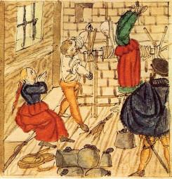 Βασανισμός κατηγορούμενης για μαγεία, 1577