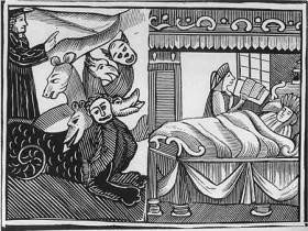 Εικονογράφηση που παρουσιάζει την τερατογέννηση ως σημάδι της μαγείας.