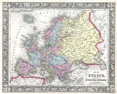 Χάρτης της Ευρώπης, 1860