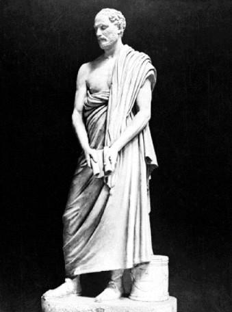 Δημοσθένης (384 - 322 Π.Χ.), ο σημαντικότερος ρήτορας της αρχαιότητας, πολιτικός και στρατηγός της αρχαίας Αθήνας. Πέθανε αυτοκτονώντας το 322 π.Χ.
