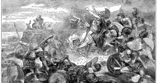 Η επική ιστορία των Μυρίων ενέπνευσε πολλούς καλλιτέχνες, όπως φανερώνει και αυτή η λιθογραφία του 19ου αιώνα.
