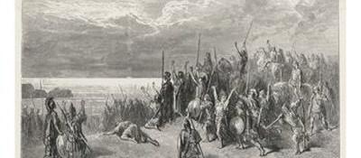 Ο Ξενοφών και οι Μύριοι αντικρίζουν επιτέλους τη Μαύρη Θάλασσα, γαλλική λιθογραφία του 19ου αιώνα.