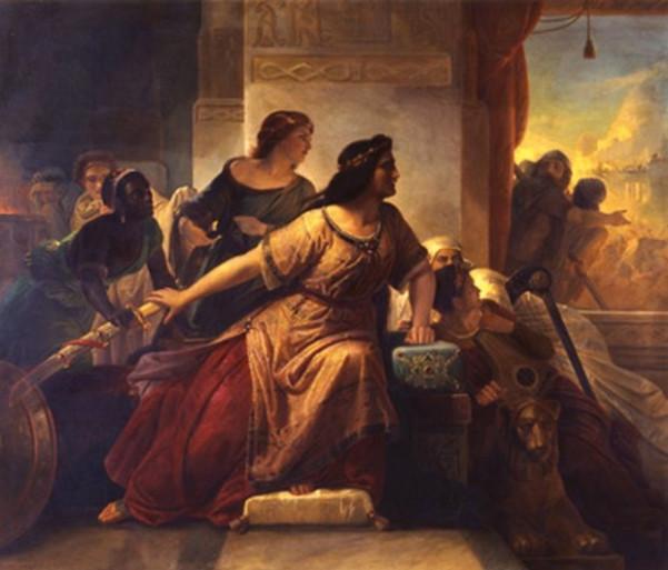 Η Σεμίραμις σε πίνακα του Christian Koehler, του 1852