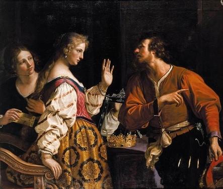Κλήση της Σεμιράμιδος στα όπλα κατά τη γνωστοποίηση της επανάστασης της Βαβυλώνας. Πίνακας του Γκουερτσίνο από το 1645 (ιδιωτική συλλογή)