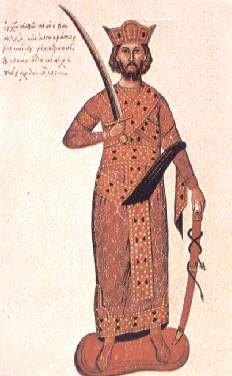 Ο Νικηφόρος Φωκάς σε μικρογραφία του 15ου αιώνα (Βενετία, Μαρκιανή Βιβλιοθήκη)