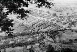 Το πεδίο της Μάχης της Πολτάβας σε πίνακα του Martin le Jeune