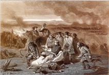 Φανταστική απεικόνιση της συμμετοχής του Καρόλου ΙΒ΄ στη Μάχη της Πολτάβας (από το λεύκωμα του Αντωνίου Αιμ. Ταχιάου, Η Ρωσία της δυναστείας των Ρομανώφ)