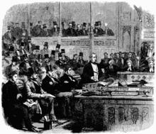 Ο λόρδος Πάλμερστον αγορεύει στη Βουλή των Κοινοτήτων