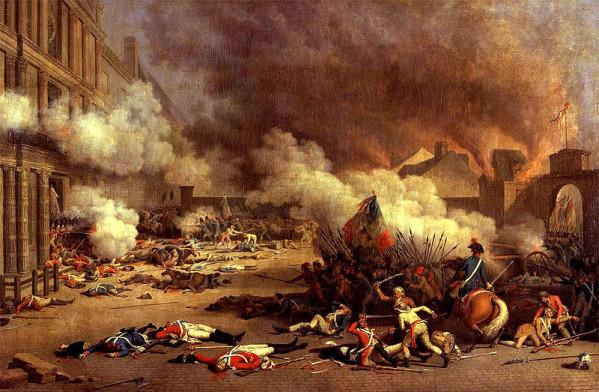 Η Κατάληψη του ανακτόρου του Κεραμεικού, του Jacques Bertaux (1793), ελαιογραφία, σήμερα βρίσκεται στο Παλάτι των Βερσαλλιών