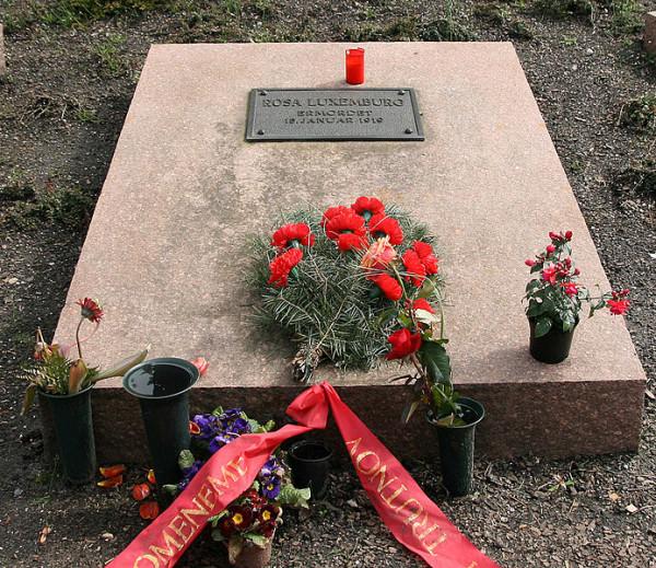 Ο τάφος της Rosa Luxemburg στο Βερολίνο