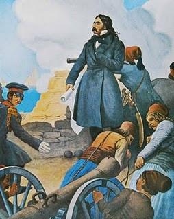 Ο Μαυροκορδάτος διεύθυνει την άμυνα στο Μεσολόγγι (Πίνακας του Πέτερ φον Ες)