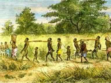 Αφρικανοί σκλάβοι οδηγούνται στη δουλεία