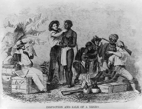 Εξέταση και πώληση ενός μαύρου σκλάβου