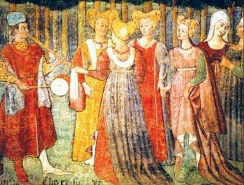 Τροβαδούρος διασκεδάζει με τη μουσική του δεσποσύνες του Μεσαίωνα