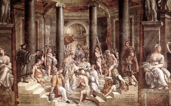Τζιοβάνι Φραντζέσκο Πέλλι - Η βάπτιση του Μεγάλου Κωνσταντίνου, Αίθουσα Μ. Κωνσταντίνου, Βατικανό