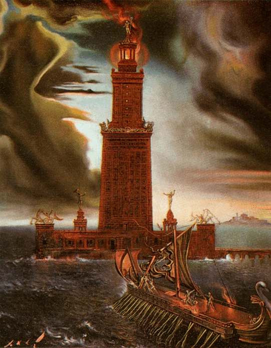 Φανταστική απεικόνιση του Φάρου της Αλεξάνδρειας