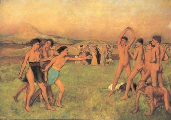 Νεαροί Σπαρτιάτες και Σπαρτιάτισσες γυμνάζονται από κοινού