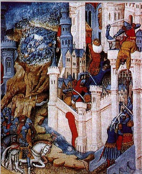 H λεηλασία της Ρώμης από τον Αλάριχο, γαλλική μικρογραφία του 14ου αιώνα