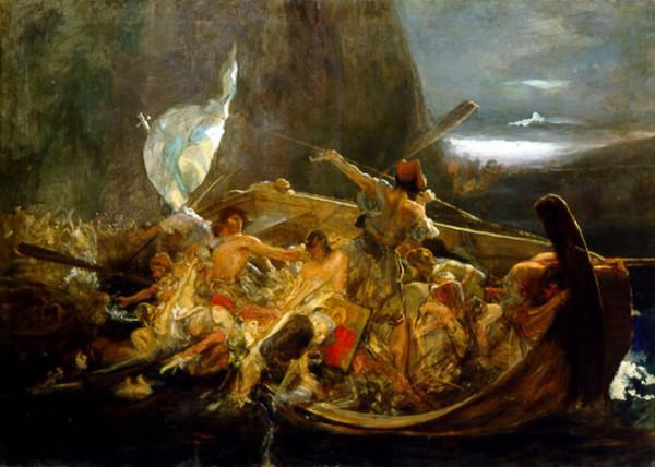 Ο Κωνσταντίνος Κανάρης πυρπολεί την τουρκική ναυαρχίδα στη Χίο