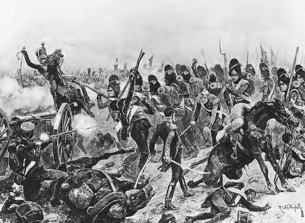 Η επέλαση της 3ης Μεραρχίας  του Sir Edward Packenham εναντίον του Thomieres στη μάχη της Σαλαμάνκα